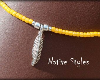 Bohemian Ankle Bracelet StackableSeed Beaded by NativeStyles
