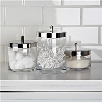 KSP Nicole Bath Canisters - Set of 3
