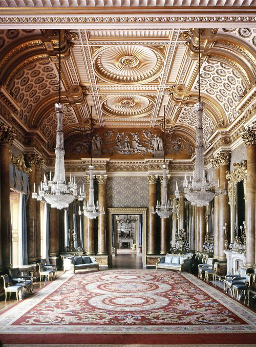 a-l-ancien-regime:    The Blue Drawing Room, Buckingham Palace. ©The Royal Collection 2009, Her Majesty Queen Elizabeth II, Photographer: Andrew Holt