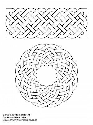 Celtic knot template 6 - coloring and shading worksheet | by Amaryllis Creations