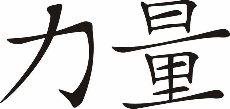 hiéroglyphes chinois comme symbole de force- idée de tatouage de la culture chinoise