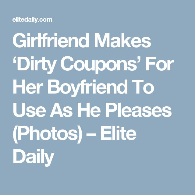 Naughty coupons for her