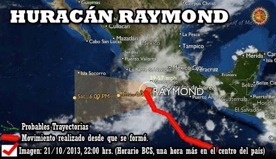 Alertas sobre los ciclones tropicales en el océano Pacífico y del Mar de Cortés. Ver probables trayectorias.