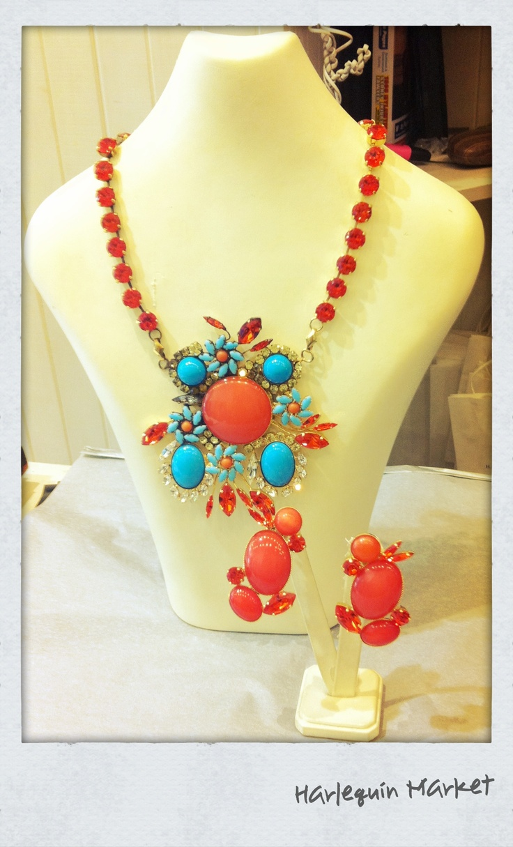 Make at statement with this necklace from Harlequin Market