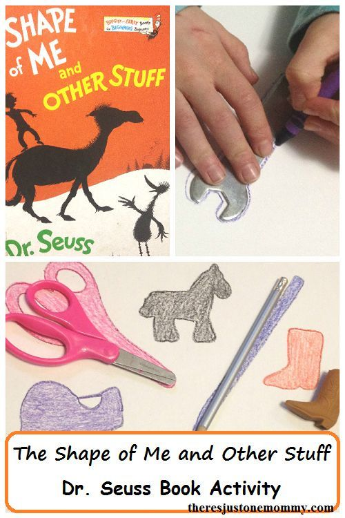 Dr. Seuss book activity for The Shape of Me and Other Stuff -- kids silhouette craft