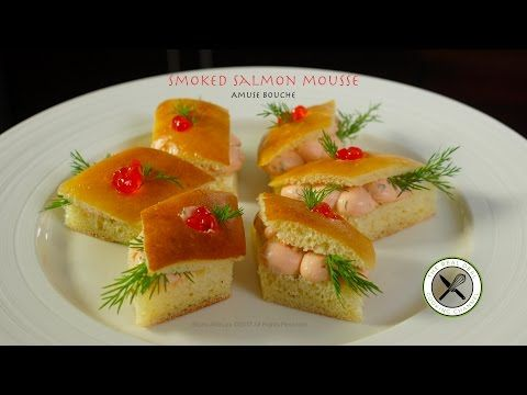 Smoked Salmon Cream Cheese Amuse – Bruno Albouze – THE REAL DEAL - YouTube
