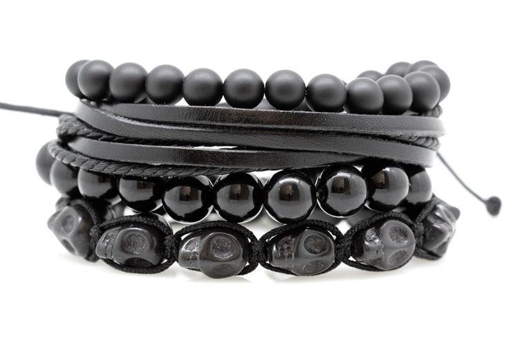 combo bracelets homme black label
