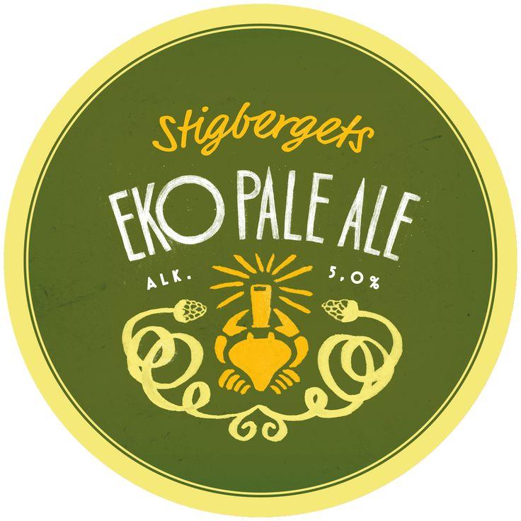 EKO PALE ALE Alk. 5% Ekologisk stiltypisk American Pale Ale. Lättsam, fruktig och välbalanserad. Finns på hyllorna i de systembolagetbutiker som säljer Stigbergets öl i Göteborg från den första april 2015.