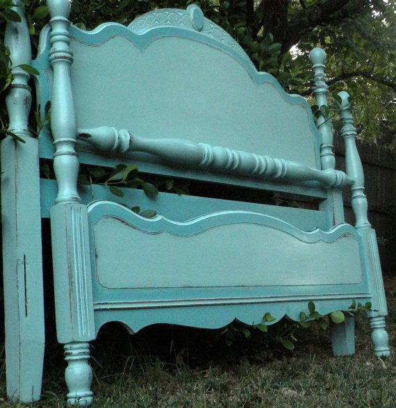 Farmhouse Painted Bed Full Queen Headboard by HarrisMarksHome, $495.00