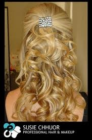 I guess kind of like this  cute curly wedding hair style