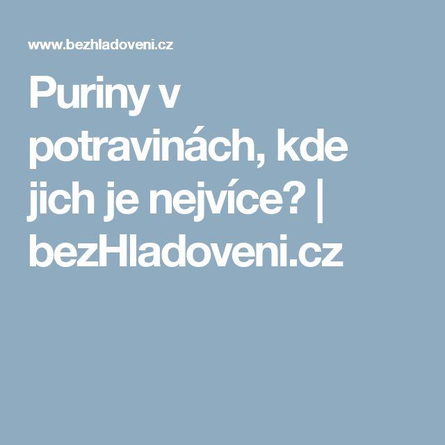 Puriny v potravinách, kde jich je nejvíce? | bezHladoveni.cz