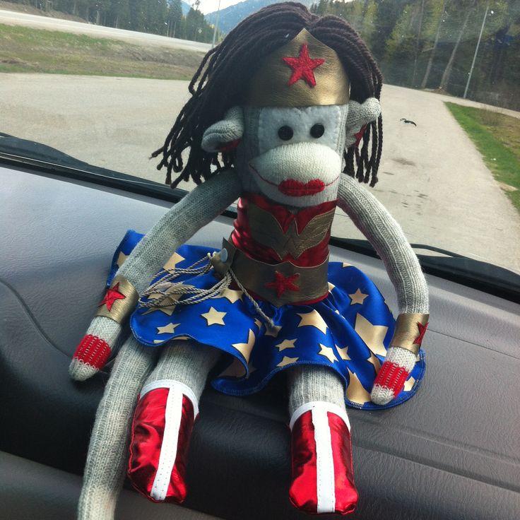 My version of the Wonderwoman sock monkey