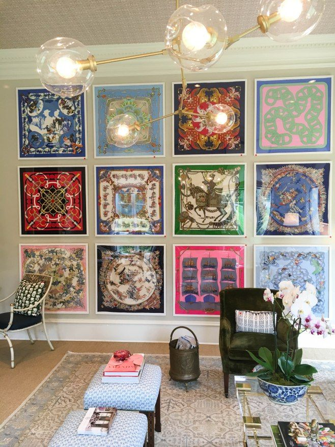 Image result for framed hermes scarves  Framed Hermes Scarves in 2019  Home decor Hermes home