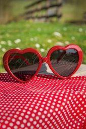So Retro Heart Sunglasses Red