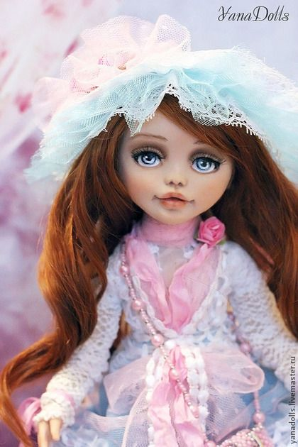 Adel - голубой,кукла ручной работы,кукла,кукла интерьерная,кукла в подарок