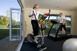 Gym at Amora Lake Resort Okawa Bay, Rotorua  New Zealand