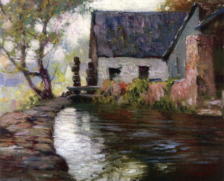 Pont Aven, Brittany, Finistere - George Ames Aldrich