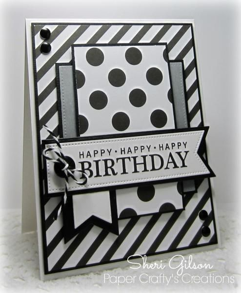 Happy Birthday, DS163, STB by PaperCrafty - Cards and Paper Crafts at Splitcoaststampers