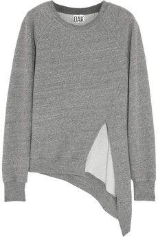 OAK Split-front jersey sweatshirt   NET-A-PORTER