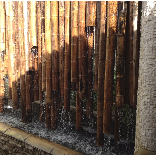 Bamboo water wall feature feature wall pinterest for Bamboo water feature