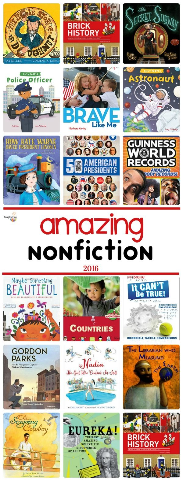 don't forget to read nonfiction, too! Here's a list of children's book recommendations to start. . .