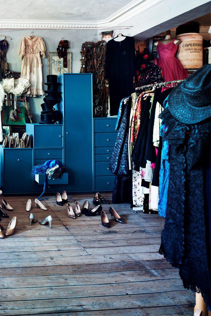 Blue Montana Wardrobe in vintage shop. #montana #furniture #wardrobe #blue #vintage #drawers storage