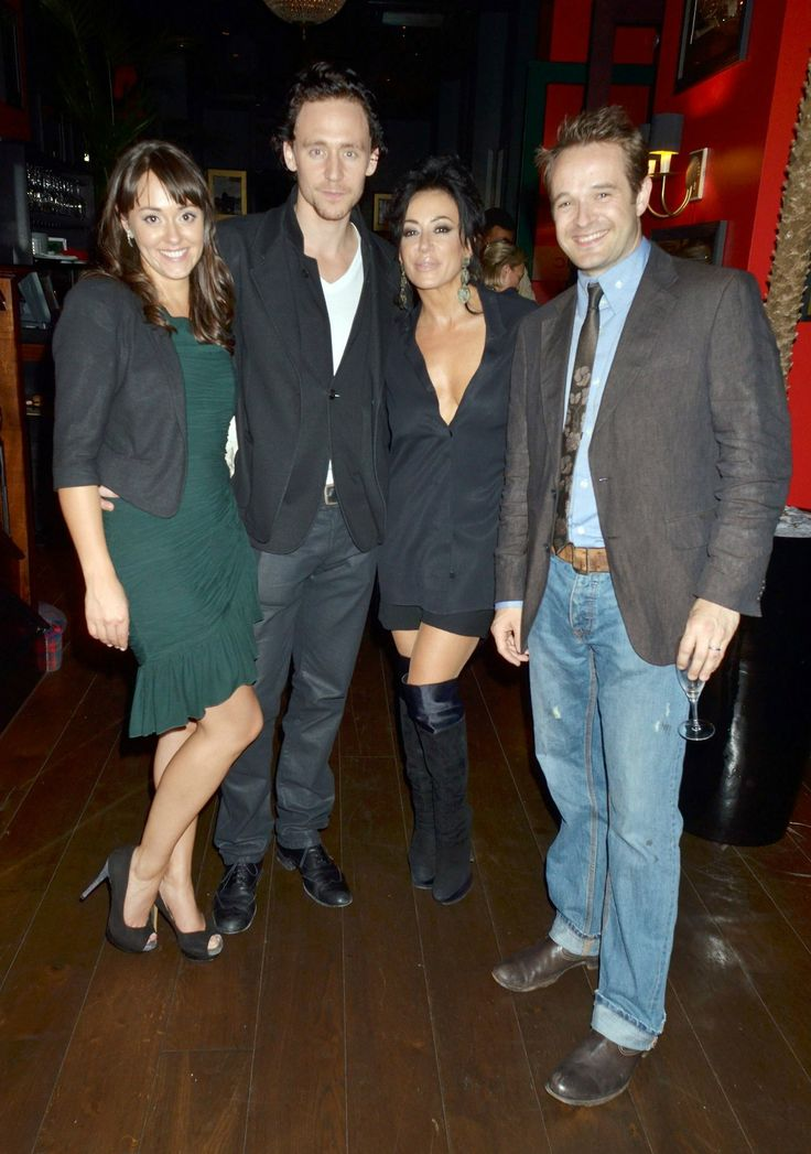 Tom Hiddleston, Susannah Fielding, Oliver Dimsale, Nancy Dell'Olio attend the Film Premiere of The First Night- 04 Oct 2011