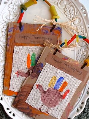 Thanksgiving craft- use some burlap for your texture would be a fun idea...