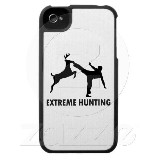 Extreme Hunting Deer Karate Kick iPhone 4 Cover