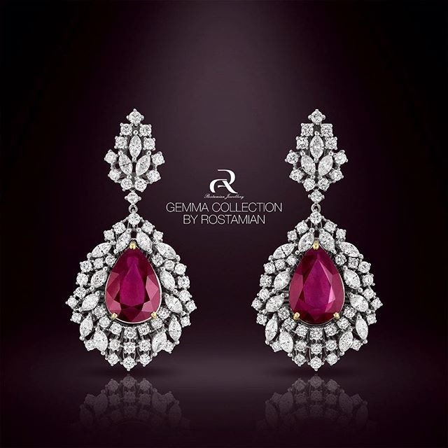 Ruby Stones Are Stones Of Love ,Vitality And Power.Magestic Ruby Earring From…
