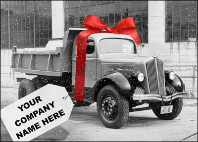 41 best trucking cards images by ziti cards on pinterest christmas dump truck holiday card has a sense of humor with an antique truck wrapped in a reheart Image collections