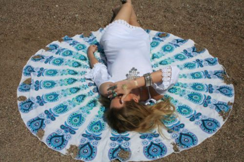 Summer Decorations – Wall Tapestry - Roundie Mandala Beach Throw – a unique product by IndianCraftPalace on DaWanda