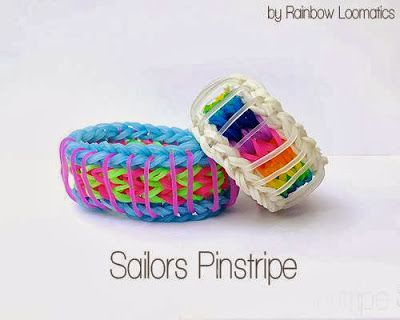 Rainbow Loom Patterns: Sailors Pinstripe Rainbow Loom Pattern (youtube tutorial) See more: http://rainbowloompatterns.blogspot.com