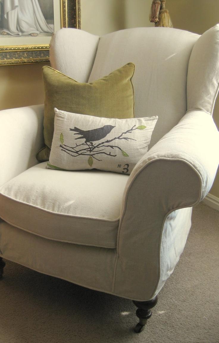 I LOVE Wingbacks, And This One Looks Sooooo Comfy. It Is Like A Chair ·  Custom SlipcoversChair SlipcoversWingback ...