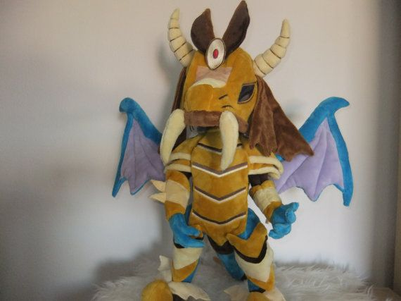 MLP plush Princess Ember in armor  20 inches by MLPplushartwork