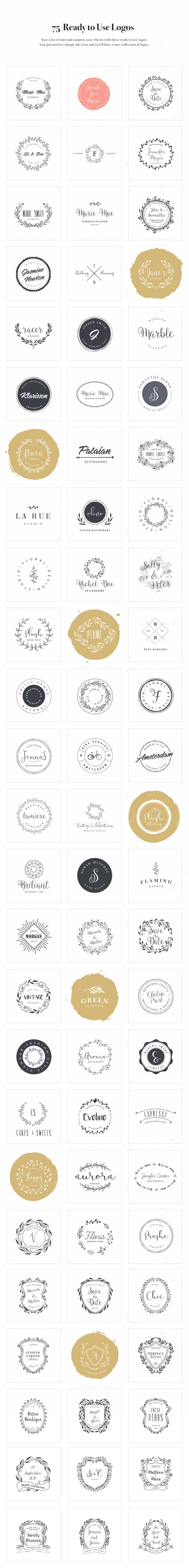 Logo Design Kit by VladCristea on @creativemarket                                                                                                                                                                                 More