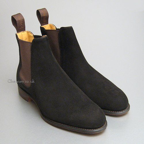 393d5b0dac1c Ladies Cheaney Clara Chelsea Boots in Bitter Chocolate Suede - 270 Pounds