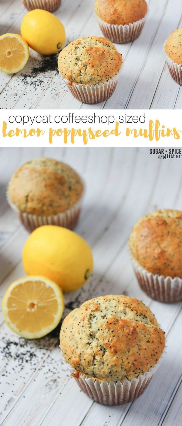 These copycat starbucks lemon poppyseed muffins are jumbo-sized for sharing - or just a bit of afternoon indulgence. An easy muffin recipe the kids can help make