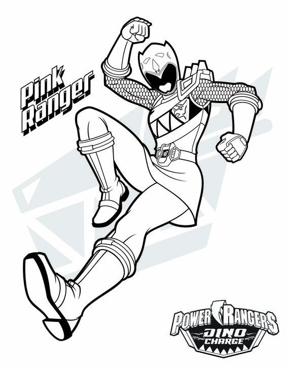 Pink Power Ranger Coloring Pages Power Rangers Coloring Pages Pink Power Rangers Power Rangers Dino Charge