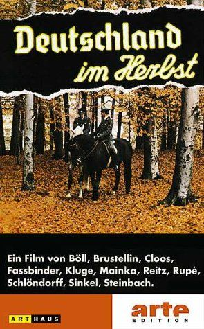 Directed by Rainer Werner Fassbinder, Alf Brustellin, Hans Peter Cloos.  With Wolfgang Bächler, Heinz Bennent, Wolf Biermann, Joachim Bißmeier. Germany in Autumn does not have a plot per se; it mixes documentary footage, along with standard movie scenes, to give the audience the mood of Germany during the late 1970s. The movie covers the two month time period during 1977 when a businessman was kidnapped, and later murdered, by the left-wing terrorists known as the RAF-Rote Armee Fraktion…