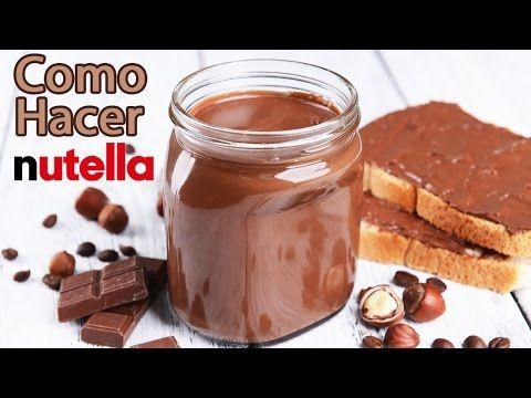 Como Hacer Nutella, Facilisimo, Riquisimo y Barato - YouTube
