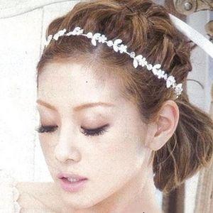 Silver Sparkling Flowers Pattern Hoop Hairband