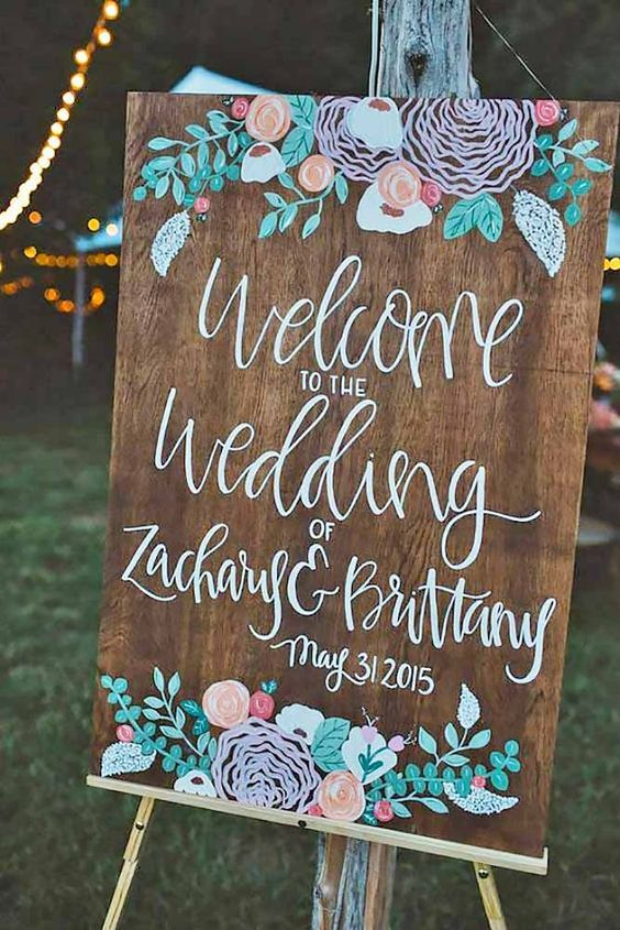 18 Most Popular Rustic Wedding Signs Ideas ❤ See more: http://www.weddingforward.com/rustic-wedding-signs/ #weddings #rustic: