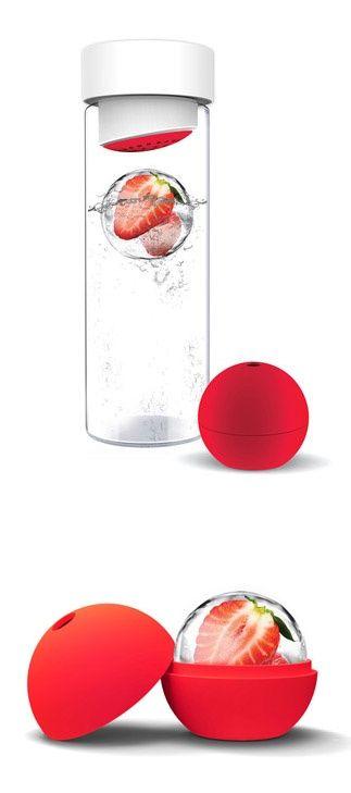 Fruit Infusing Water Bottle w/ ice sphere ~ healthy alternative to soda! Got me off sodas - love mine!