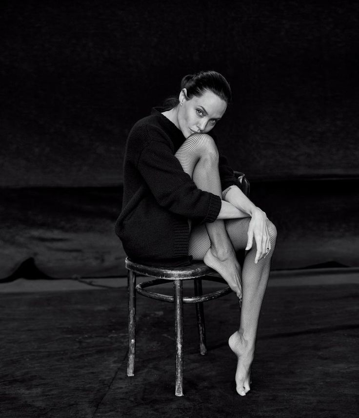 Angelina Jolie photographed by Peter Lindbergh for WSJ, October 2015.