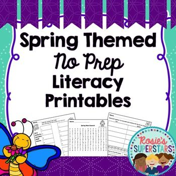 Just print and go with these English Language Arts worksheets. Use them for independent work, homework, spring break packets or as whole or small group practice. These early elementary printables incorporate a number of skills and address CCSS for 2nd grade.There are 23 Spring themed ELA Printables (22 total with 2 versions of one printable) in this resource.