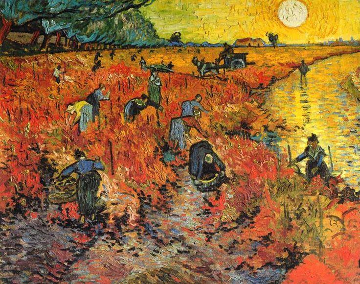 Vincent Van Gogh - Post Impressionism - Arles - La vigne rouge