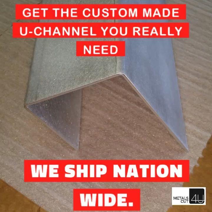 #U-channel #J-Channel #custom made sheet metal cut and bend to your specs #home repair #home improvement #DIY project #handyman #craftsman https://metalscut4u.com/