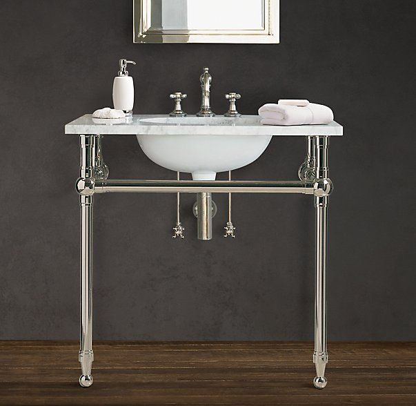 Gramercy Single Metal Washstand Base