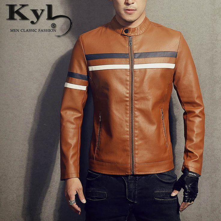 Red Leather Jacket Mens Slim Fit 2016 Korean Fashion  Jaqueta De Couro Masculino Winter Warm Pu Jacket BSGD967